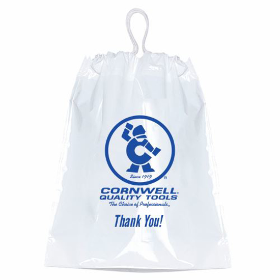 Picture of Custom Plastic Drawstring - CW Thank you